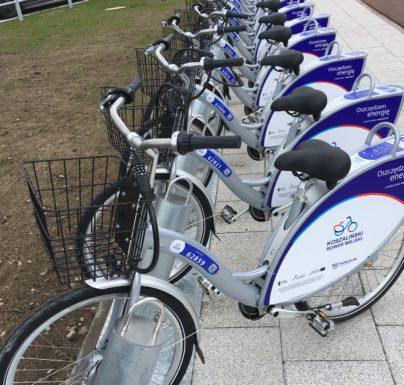 (Polski) Dzień bez samochodu na rowerach miejskich w Koszalinie: pierwsza godzina za darmo